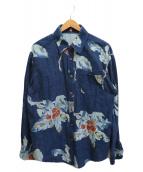 ()の古着「インディゴ染めシャツ」 インディゴ