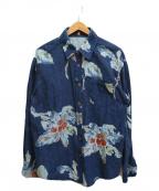 Pal'las Palace(パラスパレス)の古着「インディゴ染めシャツ」|インディゴ