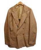 ()の古着「ダブルブレストジャケット」 ブラウン