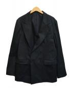 ()の古着「ダブルブレストジャケット」 ブラック