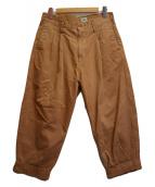 ()の古着「Weapon 2 Tuck Trousers」 ブラウン