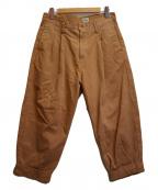 gold(ゴールド)の古着「Weapon 2 Tuck Trousers」|ブラウン