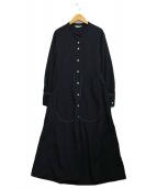 ()の古着「バルーンスリーブドレス」 ブラック
