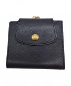 IL BISONTE(イルビゾンテ)の古着「がま口財布」|ネイビー