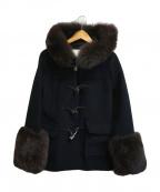 tich(ティッチ)の古着「ブルーフォックスファーダッフルコート」|ブラック