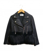 FRAY ID(フレイアイディー)の古着「エコファーライダースジャケット」|ブラック
