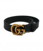 GUCCI(グッチ)の古着「GGマーモントレザーベルト」|ブラック