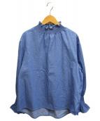 ()の古着「ハイネックブラウス」 ブルー