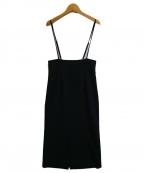 Noble()の古着「ショルダーストラップサロペットスカート」 ブラック