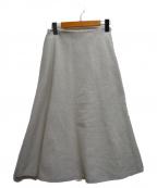 MICA&DEAL(マイカ&ディール)の古着「起毛フレアスカート」|ホワイト