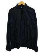 ()の古着「襟付きデザインカットソー」 ブラック