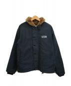 ()の古着「N-1デッキジャケット」 ネイビー
