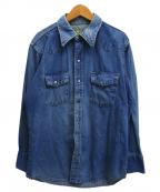 BB BRAND(ビービーブランド)の古着「ヴィンテージデニムウエスタンシャツ」|ブルー