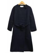 ()の古着「プレミアムウールオープンコート」 ブラック