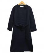 BALLSEY(ボールジィー)の古着「プレミアムウールオープンコート」|ブラック