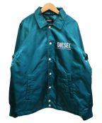 DIESEL(ディーゼル)の古着「コーチジャケット」 ターコイズブルー