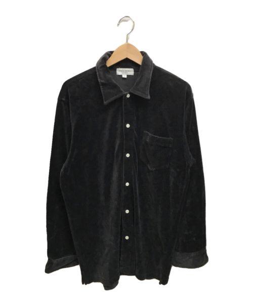 Yves Saint Laurent(イヴサンローラン)Yves Saint Laurent (イヴサンローラン) [古着]オールドベロアシャツ ブラック サイズ:Mの古着・服飾アイテム