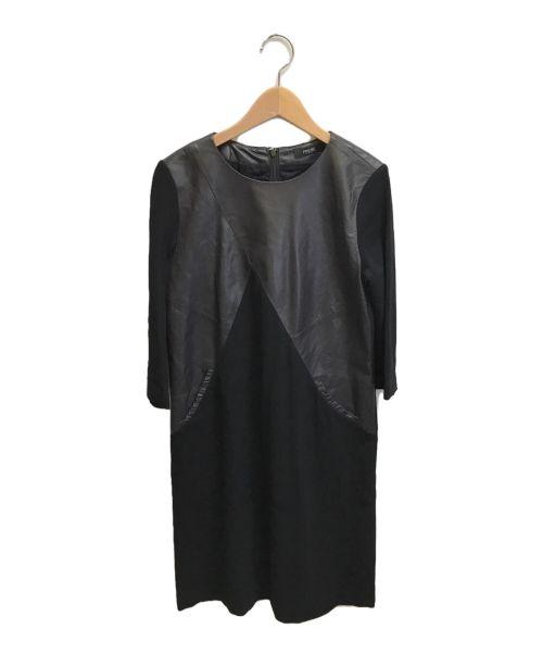 PINORE(ピノーレ)PINORE (ピノーレ) 切替ワンピース ブラック サイズ:Mの古着・服飾アイテム