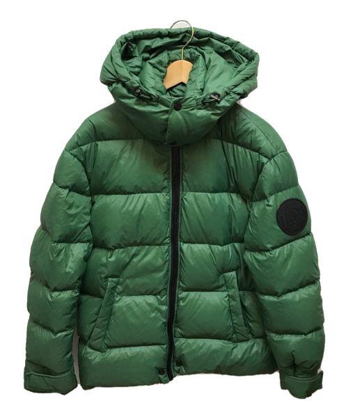 DIESEL(ディーゼル)DIESEL (ディーゼル) モヒカンパッチダウンジャケット グリーン サイズ:Sの古着・服飾アイテム