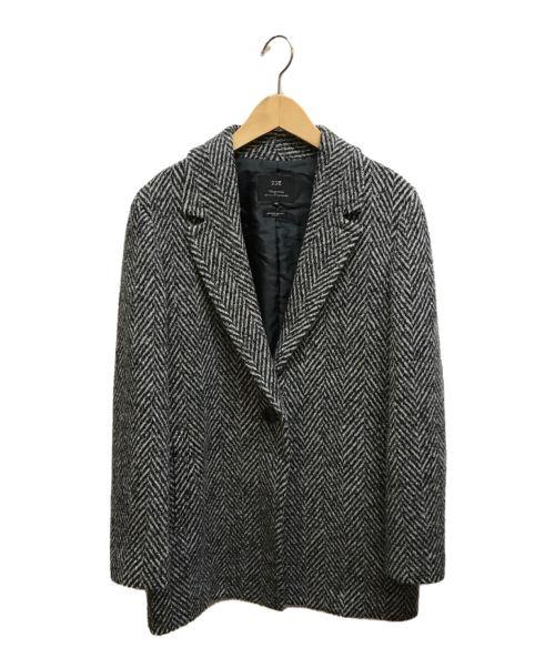 23区(ニジュウサンク)23区 (ニジュウサンク) オーバーサイズヘリンボーンジャケット ブラック×グレー サイズ:40の古着・服飾アイテム