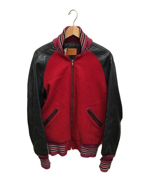 skookum(スクーカム)SKOOKUM (スクーカム) アワードジャケット レッド×ブラック サイズ:40の古着・服飾アイテム
