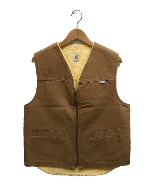 CarHartt(カーハート)CarHartt (カーハート) ダックボアベスト ブラウン サイズ:Mの古着・服飾アイテム