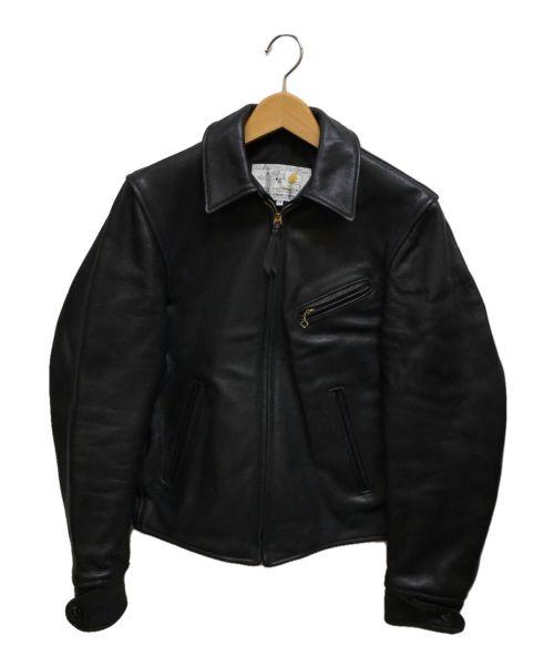 Aero LEATHER(エアロレザー)Aero LEATHER (エアロレザー) カウハイドハーフベルト ブラック サイズ:34の古着・服飾アイテム
