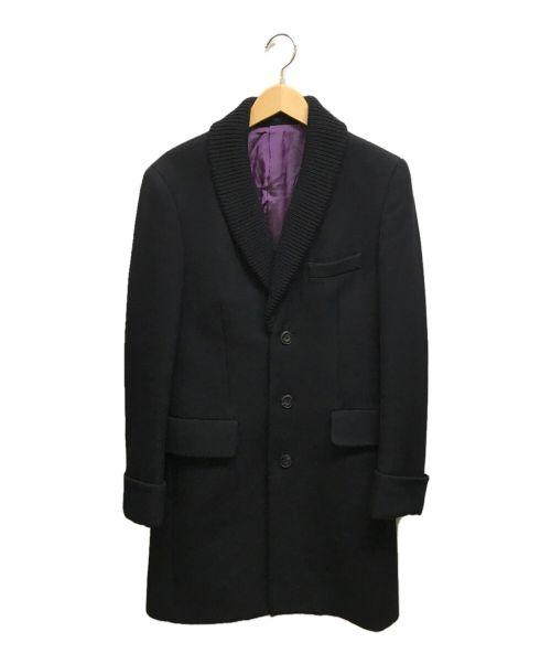 PAUL SMITH(ポールスミス)PAUL SMITH (ポールスミス) ショールカラーウールコート サイズ:Lの古着・服飾アイテム