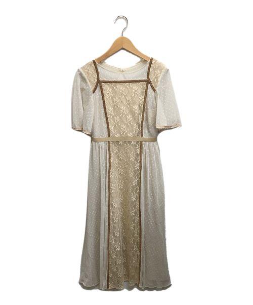 Lily Brown(リリーブラウン)Lily Brown (リリーブラウン) スイッチング2WAYワンピース ベージュ サイズ:Mの古着・服飾アイテム