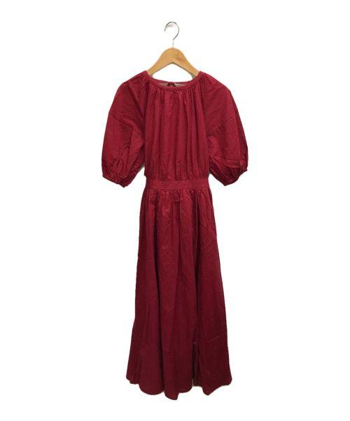 Rirandture(リランドチュール)Rirandture (リランドチュール) バックシャンワンピース レッド サイズ:2の古着・服飾アイテム