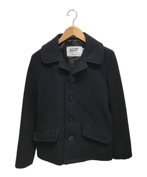 Schott(ショット)Schott (ショット) シングルボタンPコート ブラック サイズ:36の古着・服飾アイテム