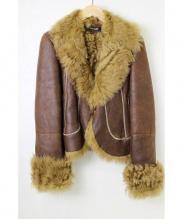 DKNY(ダナキャラン)の古着「ムートンコート」 ブラウン