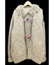jimys charmer(ジミーズチャーマー)の古着「ニットダッフルジャケット」|グレー