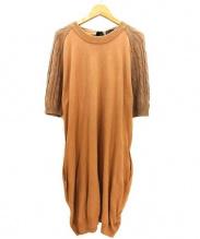 SACRA(サクラ)の古着「ニットワンピース」|ブラウン