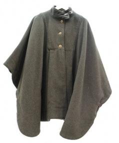nest Robe(ネストローブ)の古着「ポンチョコート」|モスグリーン