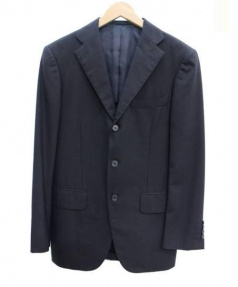 RING JACKET(リングヂャケット)の古着「3Bセットアップスーツ」 ネイビー