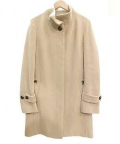 UNITED ARROWS(ユナイテッド アローズ)の古着「アンゴラ混比翼コート」|ベージュ