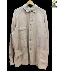 POST OALLS(ポストオーバーオールズ)の古着「リネンカバーオール」|ベージュ
