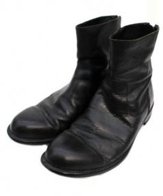 PADRONE × RINGHIO(パドローネ×リンギオ)の古着「コラボバックジップブーツ」|ブラック