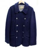 AYUITE(アユイテ)の古着「コンチョボタンウールコート」|ネイビー