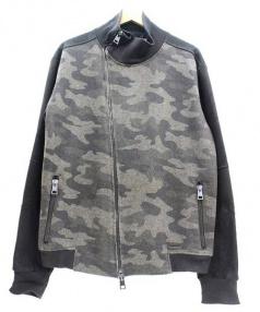 MESSAGERIE(メッサジェリエ)の古着「ジップブルゾン」|グレー×ブラック