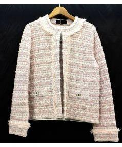 UNTITLED(アンタイトル)の古着「ラメ入りツイードジャケット」 ピンク