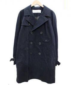 sunao kuwahara(スナオ クワハラ)の古着「コンパクトツイルトレンチコート」 ネイビー