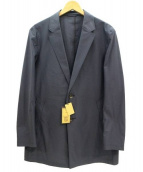COMME CA MEN(コムサメン)の古着「ハイゲージジャージーチェスターコート」 ネイビー