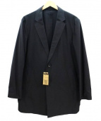 COMME CA MEN(コムサメン)の古着「ハイゲージジャージーチェスターコート」 ブラック