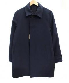COMME CA MEN(コムサメン)の古着「リバーシブルステンカラーコート」|ネイビー