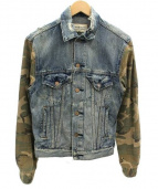 Denim & Supply Ralph Lauren(デニムアンドサプライ ラルフローレン)の古着「リメイクデニムジャケット」|ネイビー