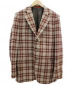 ISAIA(イザイア)の古着「ウールジャケット」 ベージュ×レッド