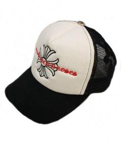 CHROME HEARTS(クロムハーツ)の古着「メッシュキャップ」|ホワイト×ブラック