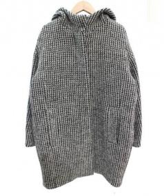 MACPHEE(マカフィー)の古着「フーデッドツイードコート」|グレー